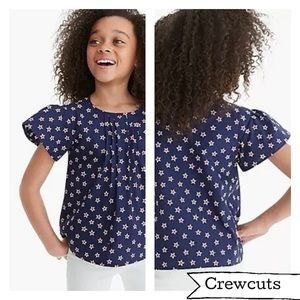Crewcuts, ruffled pleat red white blue star top 14